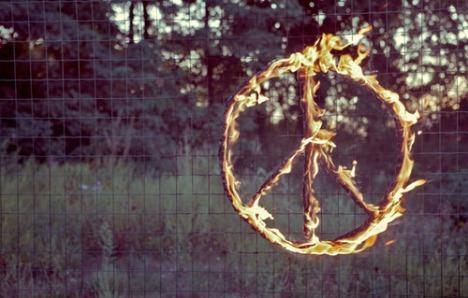 peace flames