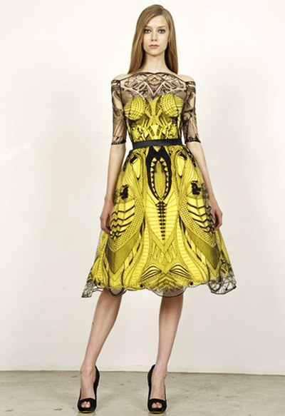 Alexander-McQueen-Cruise-Collection-Yellow-Dress